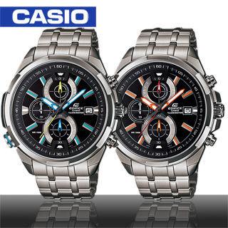 【CASIO 卡西歐 EDIFICE】日系三眼極速賽車款運動錶(EFR-536D)
