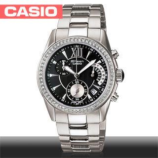 【CASIO 卡西歐 SHEEN系列】藍寶石鏡面-典雅羅馬數字氣質女錶(SHN-5505D)