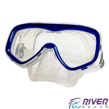 RIVER 矽膠單面潛水鏡(MS-16)