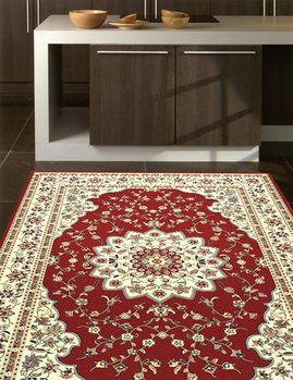 【范登伯格】奧瓦古典宮廷風味柔亮進口絲質地毯-(紅)140x200