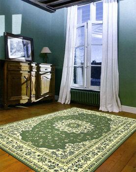 【范登伯格】奧瓦典雅巴洛克式風格柔亮進口絲質地毯-(綠)140x200