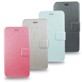 PH01A蠶絲紋 iphone6 plus(5.5吋)手機皮套(加高硬度鋼化玻璃螢幕貼)