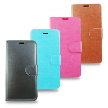 PH05A瘋馬紋 iphone6 plus(5.5吋)手機皮套(加高硬度鋼化玻璃螢幕貼)