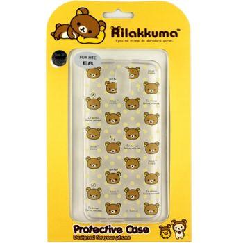 Rilakkuma 拉拉熊/懶懶熊 HTC One E8 彩繪透明保護軟套-繽紛大頭熊