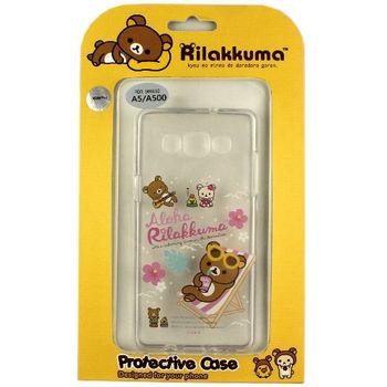 Rilakkuma 拉拉熊/懶懶熊 Samsung Galaxy A5 彩繪透明保護軟套-Fun Fun熊