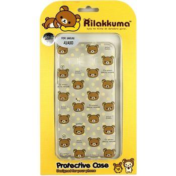 Rilakkuma 拉拉熊/懶懶熊 Samsung Galaxy A3 彩繪透明保護軟套-繽紛大頭熊