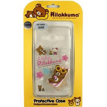 Rilakkuma 拉拉熊/懶懶熊 Samsung Galaxy A3 彩繪透明保護軟套-Fun Fun熊