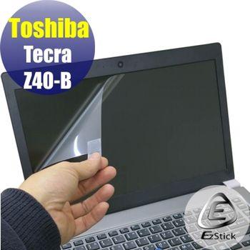 【EZstick】Toshiba Tecar Z40-B 專用 靜電式筆電LCD液晶螢幕貼 (鏡面螢幕貼)