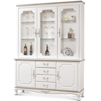 【MY傢俬】古典優雅5尺實木收納隔間餐櫃