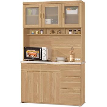 【MY傢俬】簡約鄉村4尺石面收納隔間餐櫃