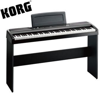 【KORG】標準88鍵電鋼琴/數位鋼琴含原廠琴架-黑色-公司貨保固 (SP-170S)