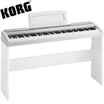 【KORG】標準88鍵電鋼琴/數位鋼琴含原廠琴架-白色-公司貨保固 (SP-170S)