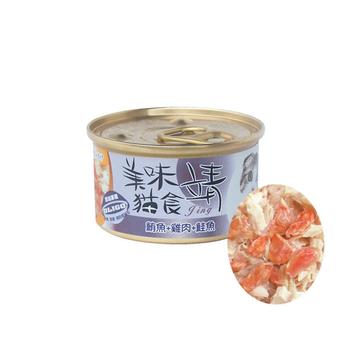 【靖】美味貓罐-鮪魚+雞肉+鮭魚 80G X 24入