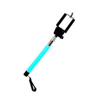 【FU】1.1公尺 7節手機線控自拍桿 自拍棒-藍(VP1017)