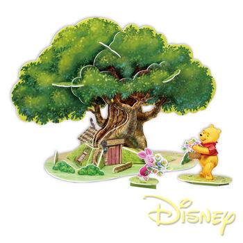 《迪士尼DISNEY》3D立體模型組合屋-維尼樹屋