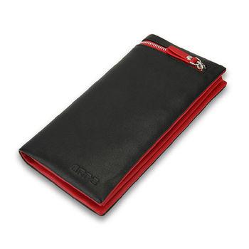 PUSH! 男士長夾頭層牛皮皮夾零錢包手拿包手拎包生日禮物(可放5吋以下手機)push10
