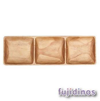 Fujidinos【PITOKA】長形三分隔餐盤(大)