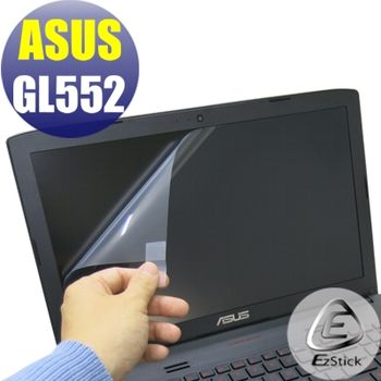 【EZstick】ASUS GL552 專用 靜電式筆電LCD液晶螢幕貼 (鏡面螢幕貼)