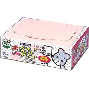 【MARUKAN】MR-189兔子專用天然潔膚巾 60枚 X 2入