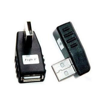 【FU】USB(A公)轉USB(A母)90度轉接頭-1入(SR1025)