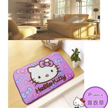 【Hello Kitty】絨毛吸水踏墊 (薰衣草紫)