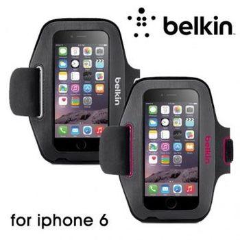 人性設計 簡約便利-Belkin iPhone 6 運動臂套 黑灰色