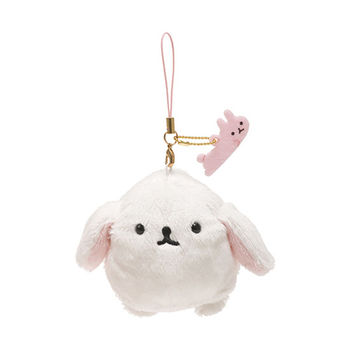 San-X 麻糬兔兔子朋友系列毛絨公仔吊飾 白大福