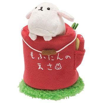 San-X 麻糬兔兔子朋友系列蔬果桶毛絨手機座 白大福