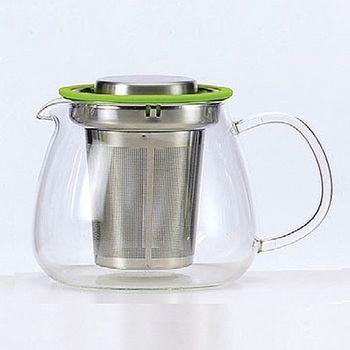 SYG耐熱玻璃花茶壺570ml-平蓋