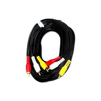 【FU】3RCA公對3RCA公 鍍金頭AV訊號線-10公尺(SY0031)