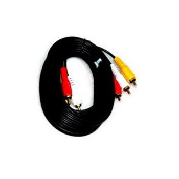 【FU】3RCA公對3RCA公 鍍金頭AV訊號線-5公尺(SY0030)