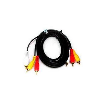 【FU】3RCA公對3RCA公 鍍金頭AV訊號線-3公尺(SY0029)