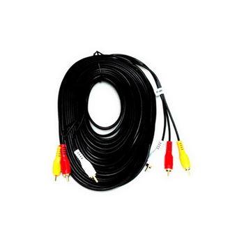 【FU】3RCA公對3RCA公 鍍金頭AV訊號線-15公尺(SY0032)