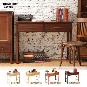 CiS [自然行] 實木家具 多機能書桌/兩用桌W110cm(咖啡胡桃色)