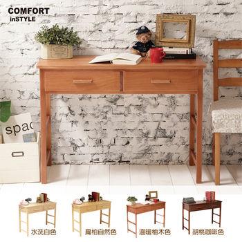 CiS [自然行] 實木家具 多機能書桌/兩用桌W110cm(溫暖柚木色)