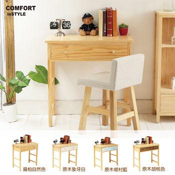 CiS [自然行] 實木家具 多機能書桌/兩用桌W80cm(扁柏自然色)