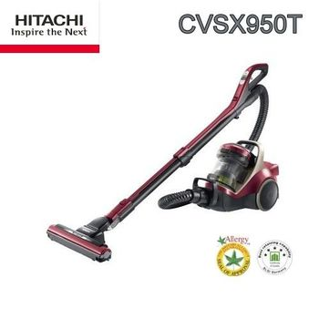 HITACHI 日立日本進口420W渦輪吸塵器(CVSX950T(炫麗紅)