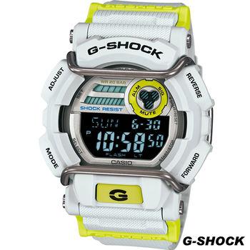 G-SHOCK 新街頭時尚運動錶 GD-400DN-8 灰x亮黃