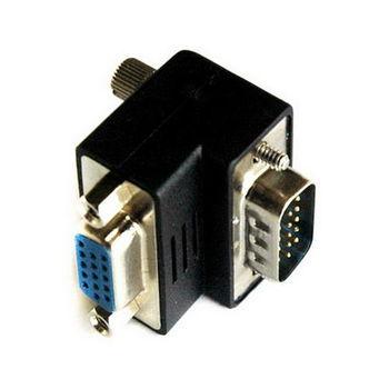 【FU】VGA 15PIN公對母 90度轉接頭(SR1504)