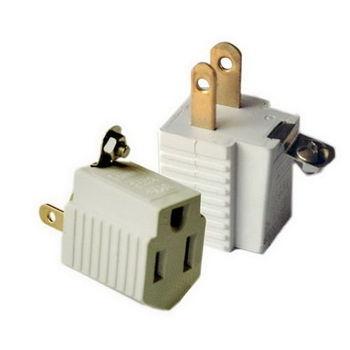 【FU】3插頭轉2插頭 電源插頭轉接頭-2入(SH0009)