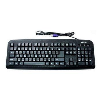 【FU】酷黑 皮紋104鍵標準USB鍵盤(SK0121)