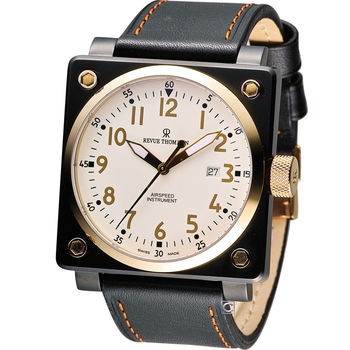 Revue Thommen 梭曼超級領航者飛行機械錶 16576.2583 黑x玫瑰金