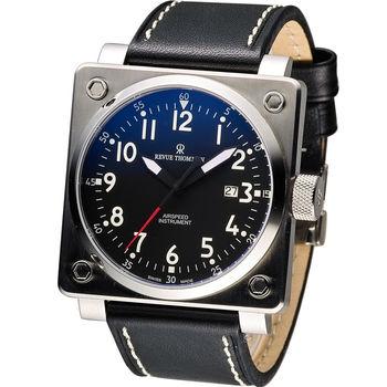 Revue Thommen 領航者飛行機械錶 16576.2137 黑