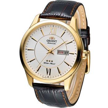 東方 ORIENT 經典都會時尚機械腕錶 FEM7P005W 金色