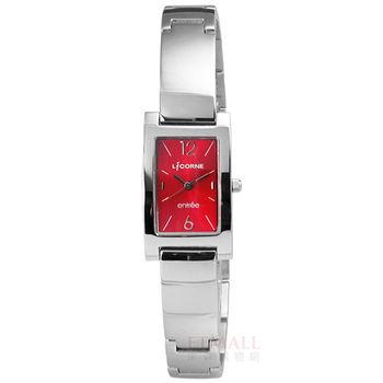 LICORNE 力抗 / LT075LWRA / entree 媚彩奪目知性不鏽鋼腕錶 紅色 20mm