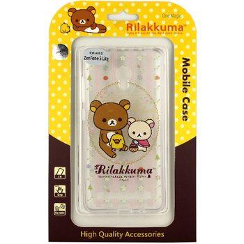 Rilakkuma 拉拉熊/懶懶熊 Asus Zenfone 5 Lite (A502CG) 彩繪透明保護軟套-花草優雅熊