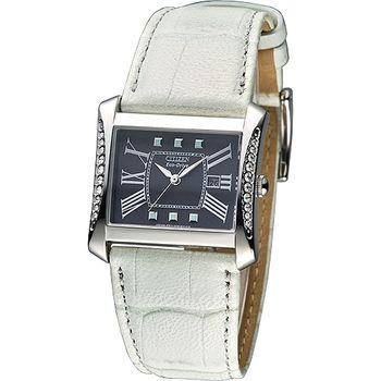CITIZEN Eco-Drive 羅馬假期鑲鑽女錶-黑/淡綠(EW1147-11ET)
