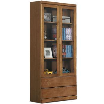 【MY傢俬】美式鄉村古典二抽實木書櫃