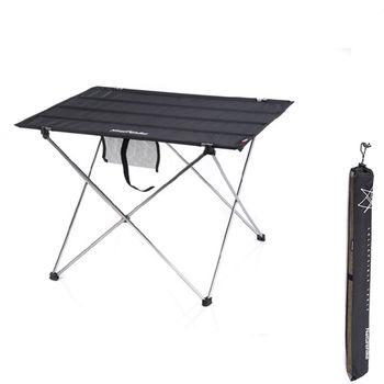 PUSH!戶外休閒用品便攜式鋁合金戶外折疊桌野餐桌(加大版)