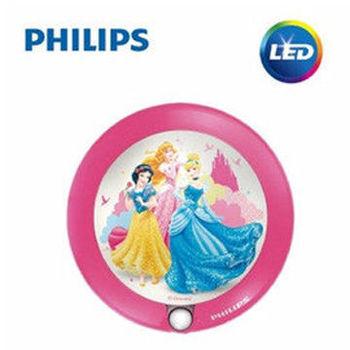 【Philips飛利浦】迪士尼魔法燈-LED感應式夜燈-迪士尼公主71765/28